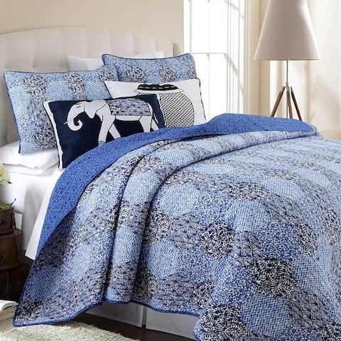 Cozy Line Orofino 3-piece Cotton Reversible Quilt Set