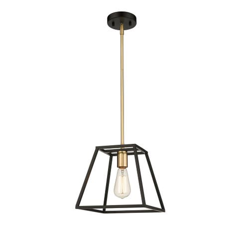 OVE Decors Agnes I 1-Light LED Matt Black & Gold Finish Pendant Light