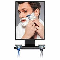 ToiletTree Ultimate Fogless Shower Bathroom Mirror, Bigger Reflective Surface & Thinner Frame with Squeegee
