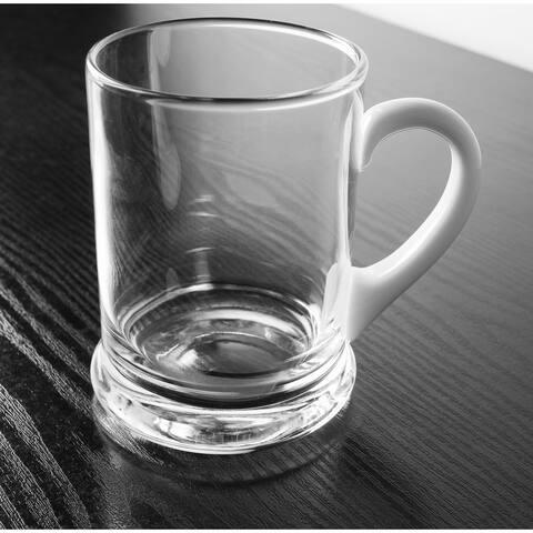 Majestic Gifts Inc. European 24 oz. Glass Mug with white handle
