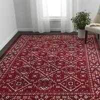 VCNY Home Evelyn Red Medallion Area Rug
