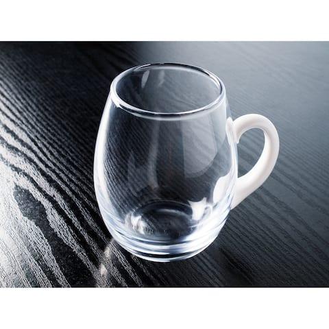 Majestic Gifts Inc. European 20 oz. Glass Mug with white handle