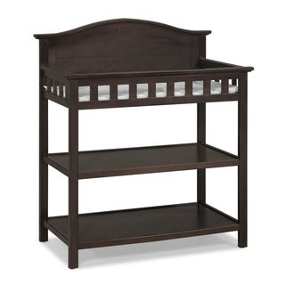 Thomasville Kids Southern Dunes Changing Table with Water Resistant Changing Pad, Safety Strap & Two Storage Shelves