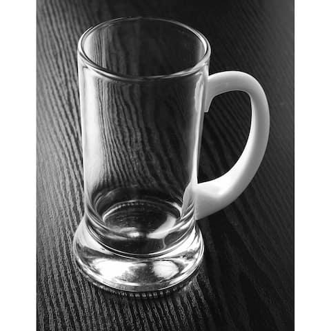 Majestic Gifts Inc. European 24 oz. Glass Mug w/ wht handle w/ base