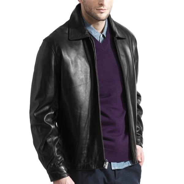 Men's Modern Black Lambskin James Dean Leather Jacket