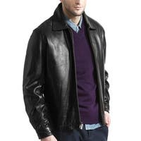 Men's Modern Black Lambskin James Dean Leather Jacket