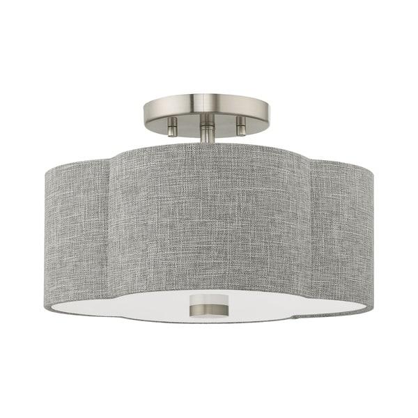 Livex Lighting Kalmar 2 Light Brushed Nickel Ceiling
