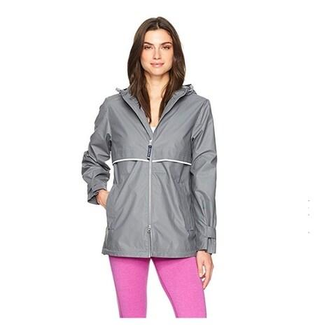 Charles River Women's Englander Rain Jacket Grey
