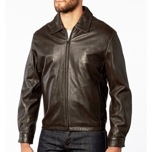 Mens Modern Brown Lambskin Leather Jacket