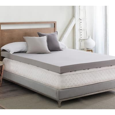 """Drools A Lot - Coma Inducer - 4"""" Memory Foam Bedding Topper - Nighttime Gray"""