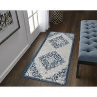 Copper Grove Rogachev Multi-colored Medallion Runner Rug - 2' x 6'