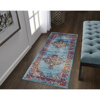 The Curated Nomad Eddison Medallion Frise Runner - 2' x 6'