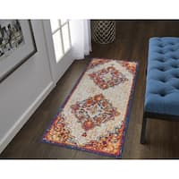 The Curated Nomad Cannavale Medallion Runner - 2' x 6'