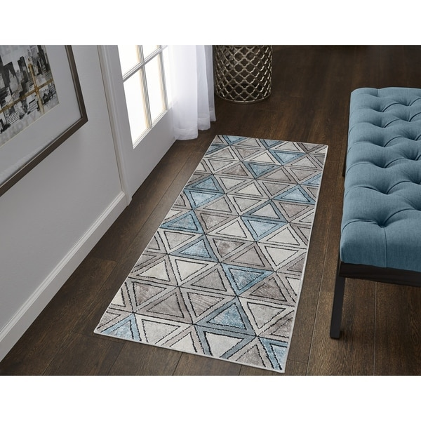 Strick & Bolton Lalezar Geometric High-low Runner Rug - 2' x 6'