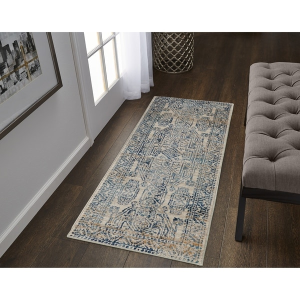 The Curated Nomad Luthor Geometric Frise Runner - 2' x 6'
