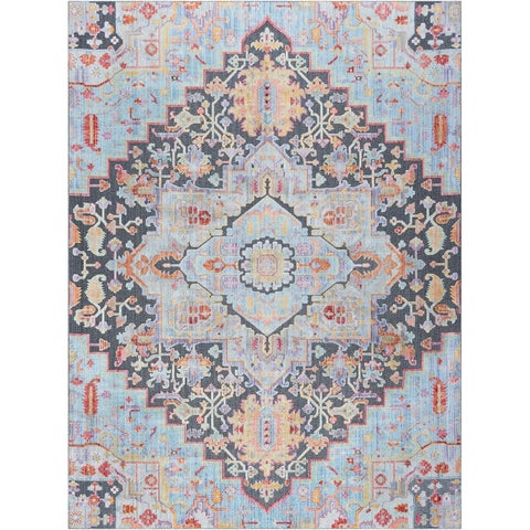 Alise Rugs Harrison Transitional Medallion Area Rug