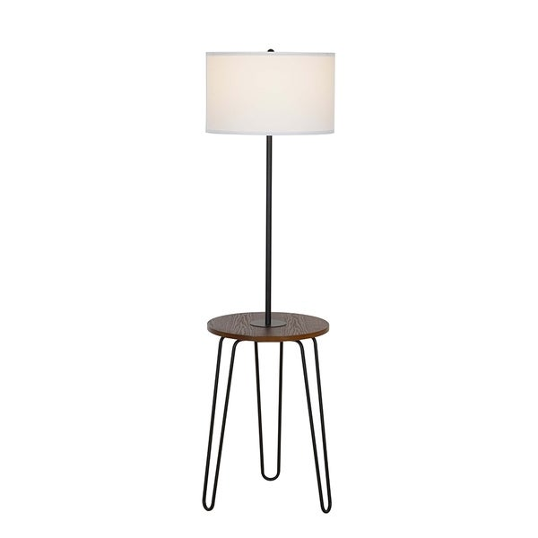 fcd66651f996 Shop Catalina Lighting Mid-Century Modern Furniture Floor Lamp w USB ...