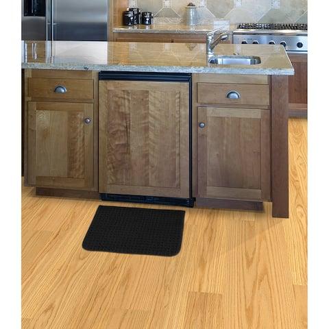 Herald Square Black Kitchen Slice Rug