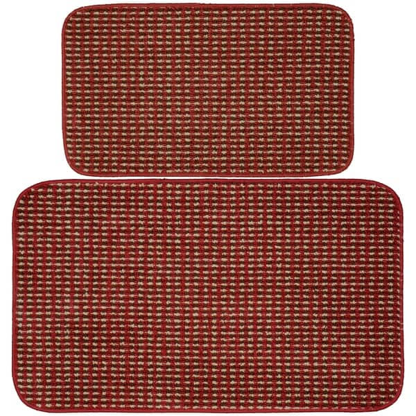 Shop Berber Coloriations Chili Red Kitchen Slice Rug - Free ...