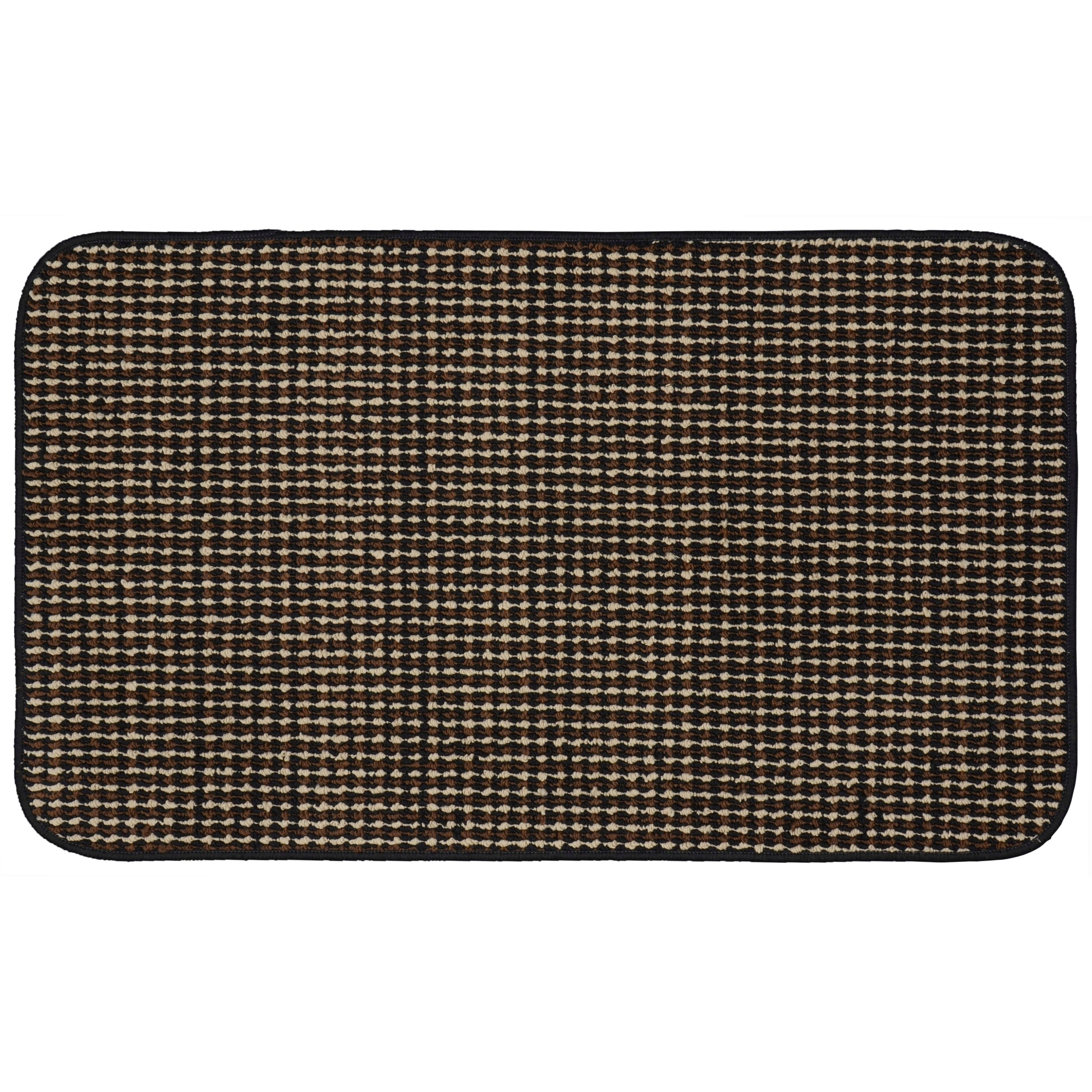 Berber Coloriations Black Kitchen Slice Rug