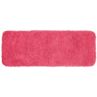Jazz Pink Shaggy Nylon Washable Bath Rug Runner