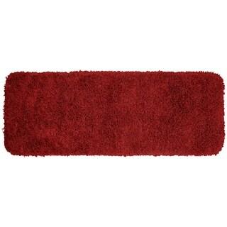 Jazz Chili Red Shaggy Nylon Washable Bath Rug Runner