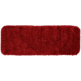 SerendipityChili Red Shaggy Nylon Washable Bath Rug Runner