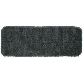 Serendipity Dark Grey Shaggy Nylon Washable Bath Rug Runner