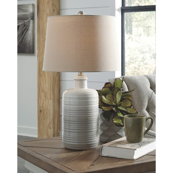 Marnina 24 Inch Ceramic Table Lamps Set Of 2 Taupe On Sale Overstock 25722124