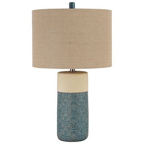 Evalyn 25 Inch Ceramic Table Lamps - Set of 2 - Green