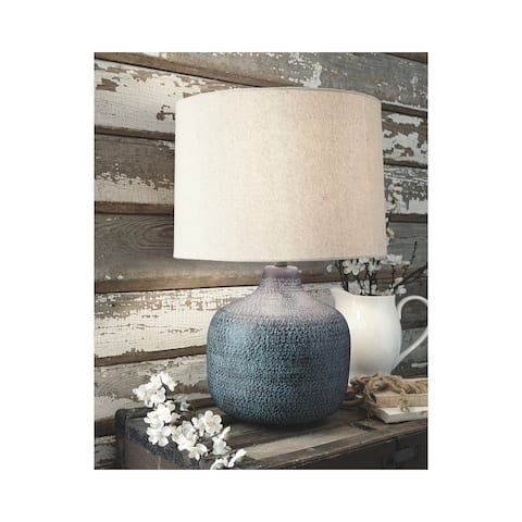 Malthace 24 Inch Metal Table Lamp - Patina