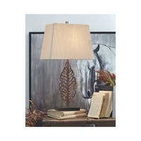Jolisa 28 Inch Metal Table Lamps - Set of 2 - Antique Brown