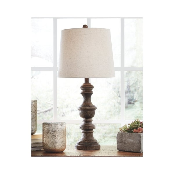 Magaly 28 Inch Poly Table Lamps - Set of 2 - Brown