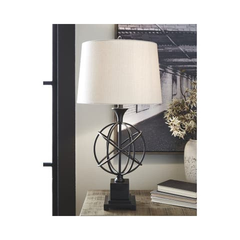 Camren 33 Inch Metal Table Lamp - Black