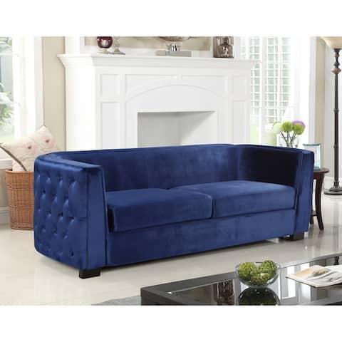Chic Home Ivos Sofa Velvet Upholstered Button Tufted