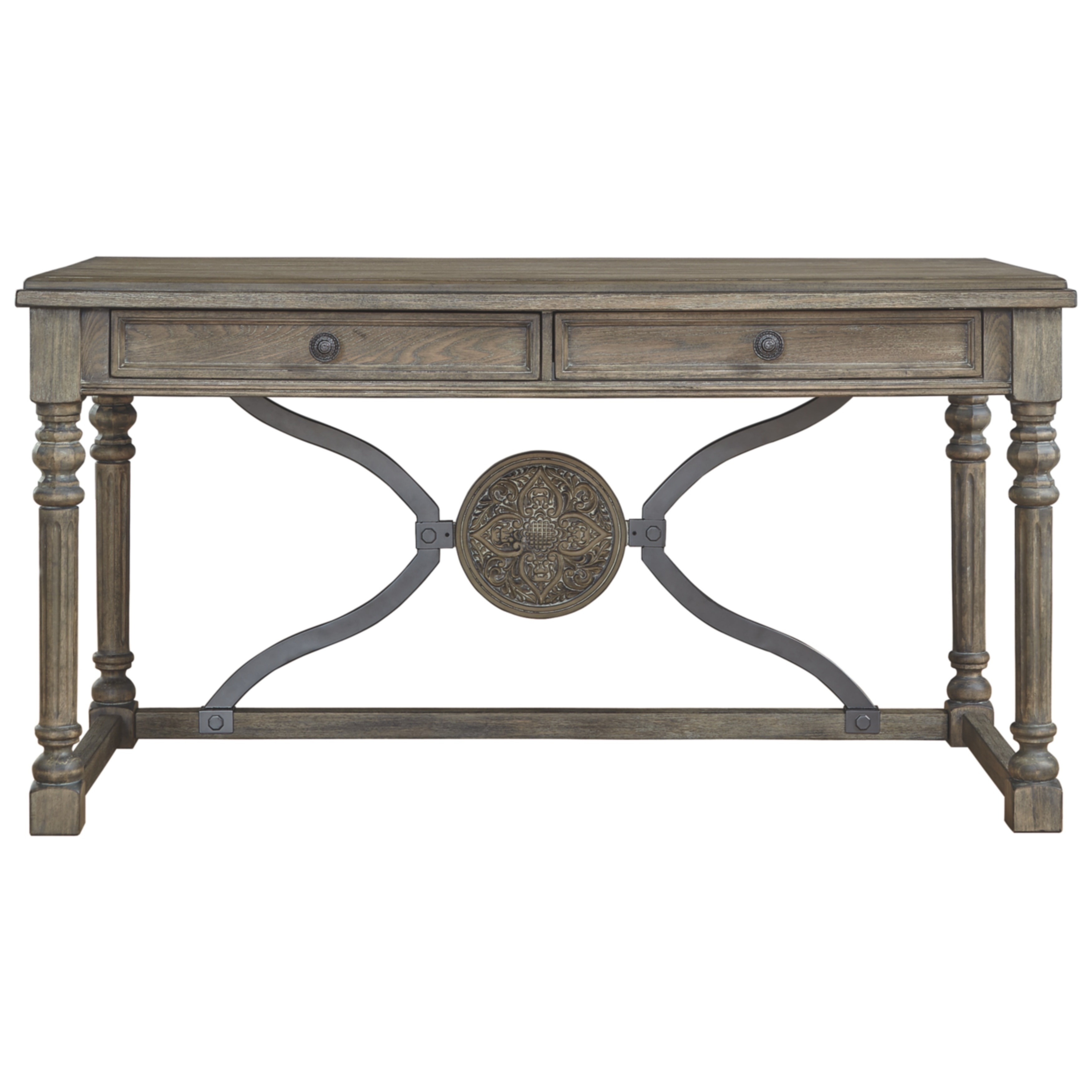 The Gray Barn Gudmund Light Brown Wood Home Office Desk