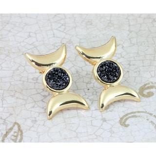 Moon Phase Stud Earrings