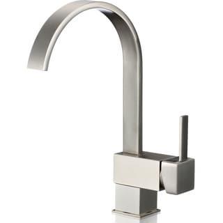 iSpring L8208BN Single Handle 360 Degree Swivel Kitchen/Bar Sink Faucet - Brushed Nickel Finish