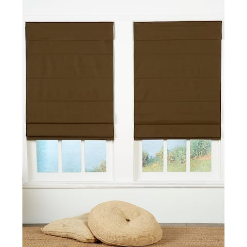 Taylor & Olive Halfway Chocolate Insulating Cordless Roman Shade