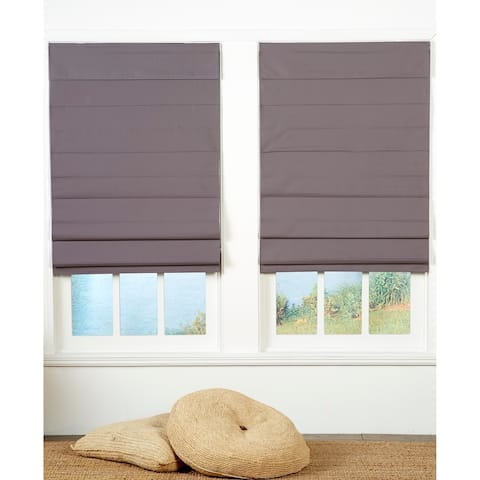 Taylor & Olive Halfway Grey Insulating Cordless Roman Shade
