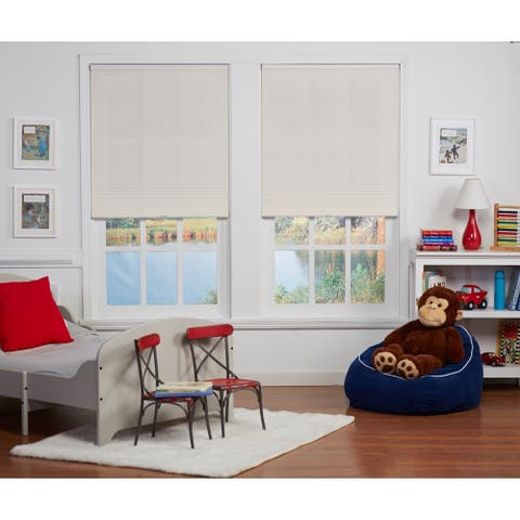 Copper Grove Yerevan Cream Light Filtering Cordless Cellular Shade (72 inches long)