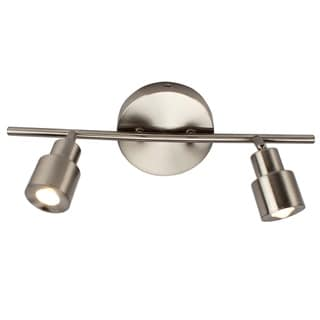 Link to 2-Light LED Flush Mount Ceiling and Wall light in Brushed Nickel Similar Items in Track Lighting