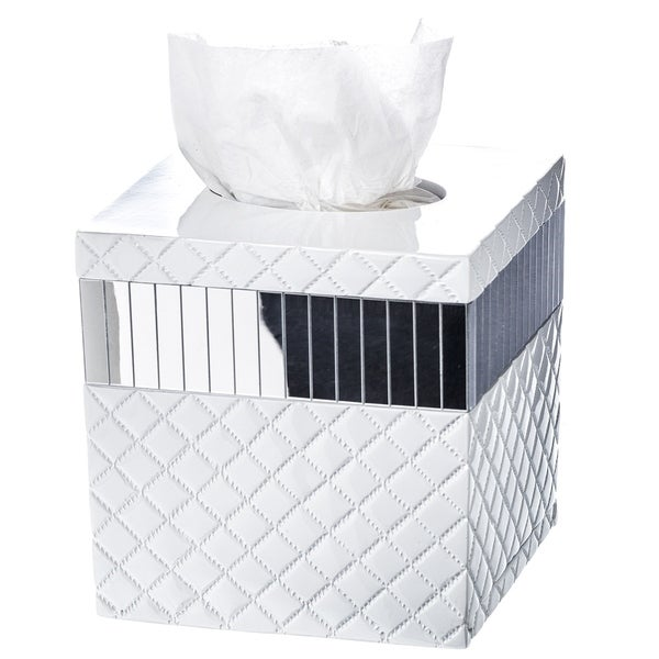 Shop Quilted Mirror Tissue Box Cover Square Free