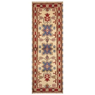 Handmade Kazak Wool Rug (India) - 2'2 x 6'7