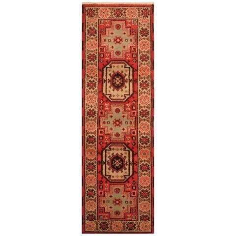 Handmade One-of-a-Kind Kazak Wool Rug (India) - 6' Runner