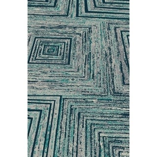 "Turquoise Abstract Area Rug 8x11 - 7'6"" x 10'3"""