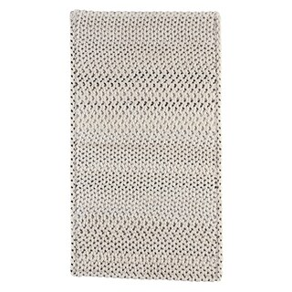 "Capel Rugs Braided Vivid Steel Grey Nylon Area Rug - 36"" x 36"" runner"