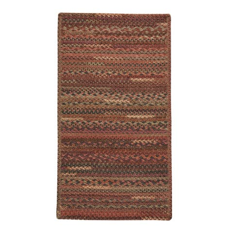 """Capel Rugs Braided Harborview Red Wool Area Rug - 11' 4"""" x 14' 4"""" runner"""