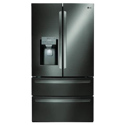 """LG LMXS28626D 28 cu.ft. Smart wi-fi Enabled French Door Refrigerator Black Stainless Steel - 7'10"""" x 10'6"""""""