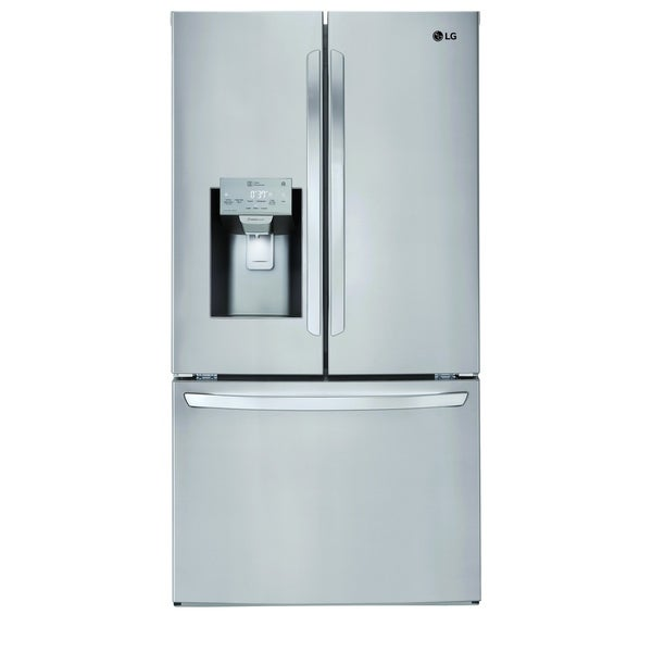 """LG LFXS28968S 28 cu.ft. Smart wi-fi Enabled French Door Refrigerator Stainless Steel - 7'10"""" x 10'6"""""""